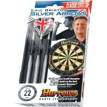 22g Silver Harrow Bristow Arrow Darts - Eric Arrows Harrows Brass Steeltip -  silver eric bristow arrows harrows darts brass steeltip chrome 22g
