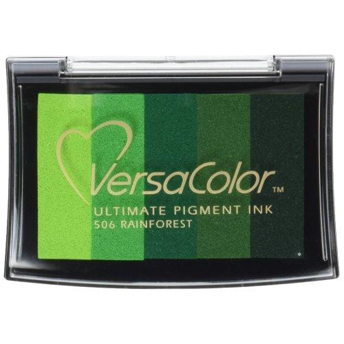Tsukineko Versacolor 5 Colour Pigment Ink Pad - Rainforest