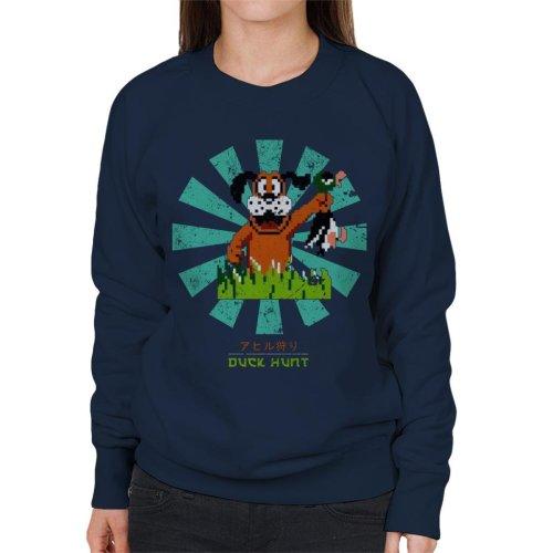 Duck Hunt Retro Japanese Women's Sweatshirt