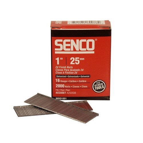 Senco RX13EAA Straight Brad Nails Galvanised 16G x 25mm Pack of 2,000
