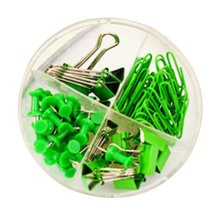 Different Drawing Pins Pushpins Clips Tacks Set Office Supply Accessory – Green