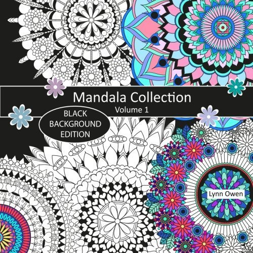 Mandala Collection Colouring Book Black Background Edition Volume 1