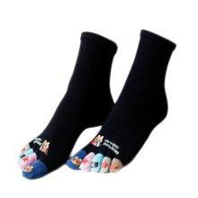 Tube Toe Socks Cotton Soft House Socks Cartoon Cute Socks-A07