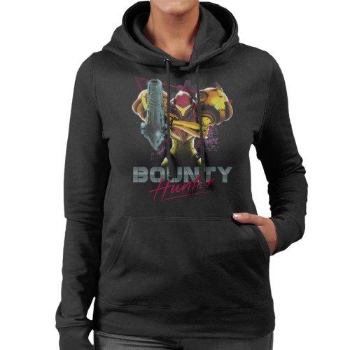 Classic Bounty Hunter Retro 80s Metroid Women's Hooded Sweatshirt