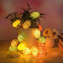 1.8M 10 LED Cotton Easter Egg String Lights