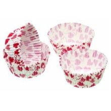 4.5cm Heart Pack Of 80 Sweetly Does It Mini Paper Cake Cases