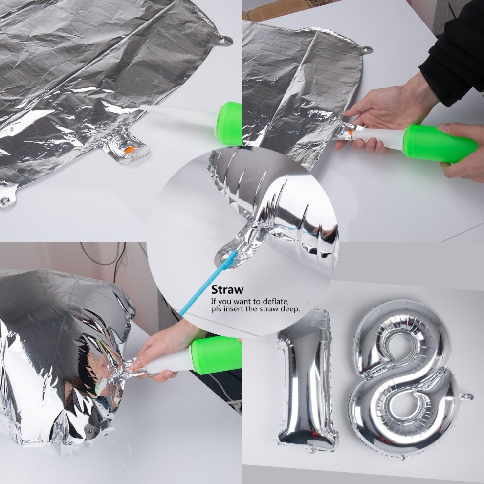 18 Helium Balloons Meersee 40 Inch Giant Foil Number 18th Birthday For Girls