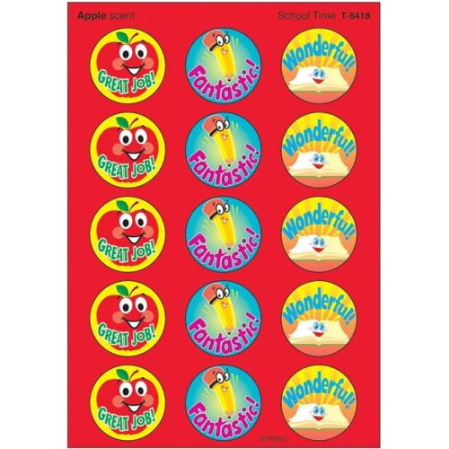 Trend Enterprises T-6418-6 Stinky Stickers School Time - Pack of 6