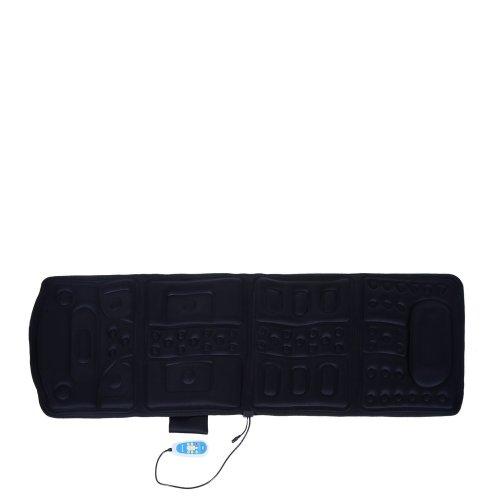 Homcom 8 Modes Electric Massage Mat Pad Cushion Vibration Foldable Massager Black