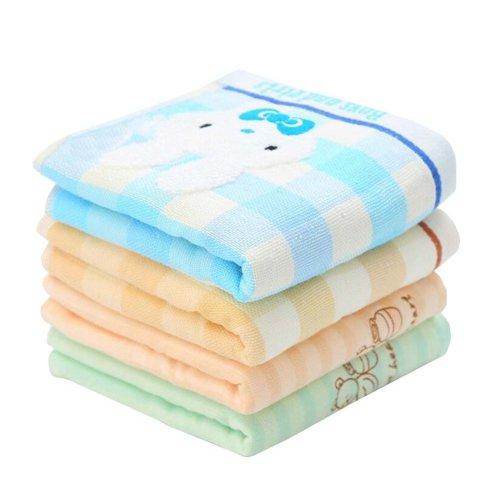 Set of 4 Soft Cotton Mini Towels Baby/Kids Face Hand Towel Set