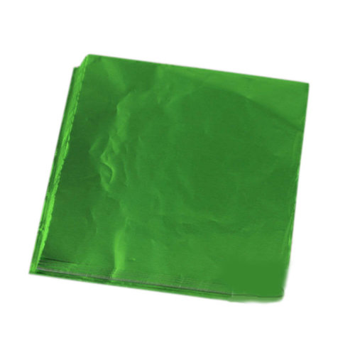 100pcs Handmade Aluminum Foil Packaging Paper Candy Chocolate Thick Wrappers- Green