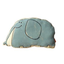 Cute Cartoon Creative Sofa Cushion and Pillow Birthday Gift--Elephant B