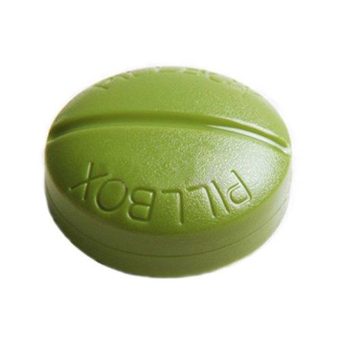 Creative 4 Compartment Pill Shape Pill Box-Green