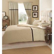 Valeria cream striped cotton blend duvet cover