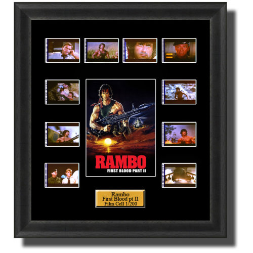 Rambo First Blood Part 2 (1985) Film Cell Memorabilia
