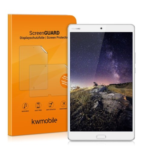 kwmobile Screen protector tempered glass for Huawei MediaPad M3 8.4 in crystal clear - Premium quality