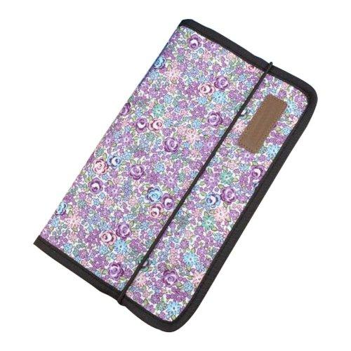 A5 Multilayer File Pocket Student Files Organizer Portable Briefcase-Purple