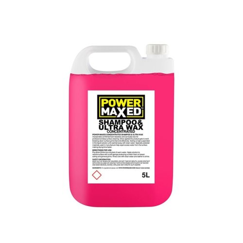 Power Maxed Car Shampoo And Ultra Wax - 5.0Ltr