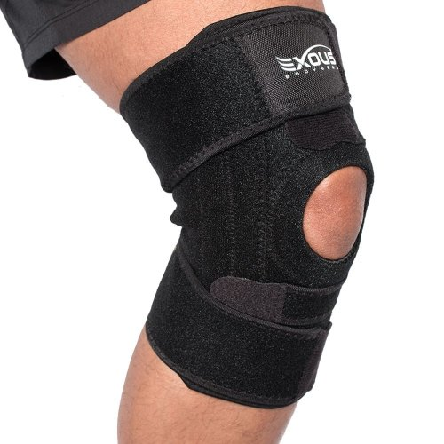 Knee Support Brace With Lateral Stabilisers Anti-Slip Design