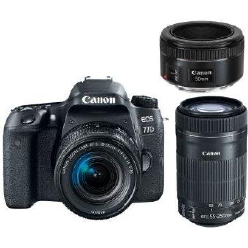 CANON EOS 77D EF-S 18-55mm IS STM + 55-250mm IS STM + EF 50mm F1.8 STM