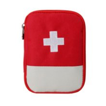 Portable First AID Pouch Pill Bags Medicine Storage Container Pill Case Red