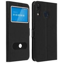 Double window flip standing case for Asus Zenfone 5 ZE620KL + TPU shell - Black