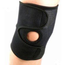 Adjustable Neoprene Knee Support, One Size, Black (Pair)