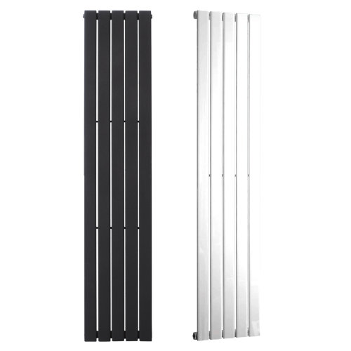 HAILWOOD Flat Panel Modern Vertical Radiator, Tall, - Central Heating