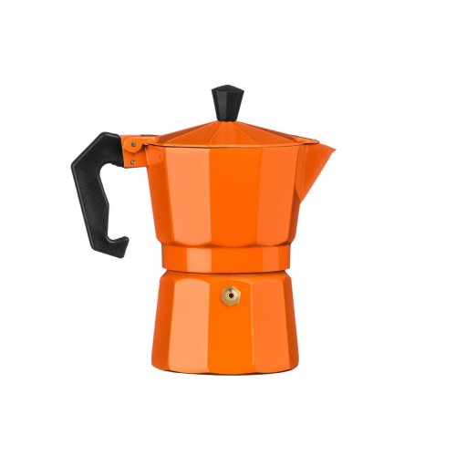 3 Cup Espresso Maker, Aluminium - Orange
