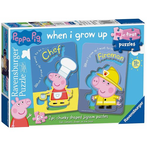 Ravensburger My First Puzzles 6x2pc Chunky Shaped Puzzles Peppa Pig