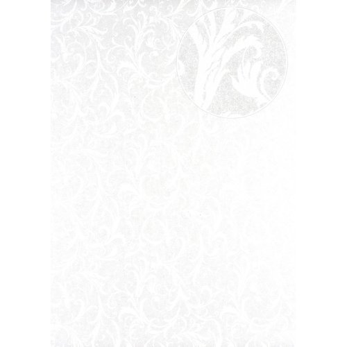 Atlas PRI-523-4 Baroque wallcovering wall shimmering light-ivory white 5.33 sqm