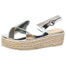 Joanne Womens Low Wedge Heel Platform Espadrille Sandals