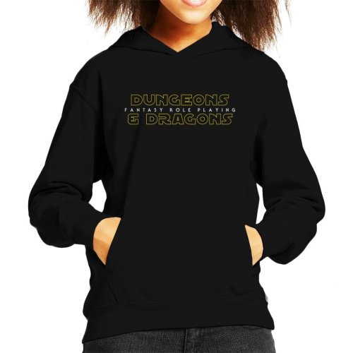 Dungeons And Dragons Fantasy Role Playing Kid's Hooded Sweatshirt