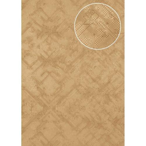 Atlas SIG-581-1 Graphic wallpaper shimmering brown-beige grey 5.33 sqm