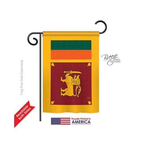 Breeze Decor 58256 Sri Lanka 2-Sided Impression Garden Flag - 13 x 18.5 in.