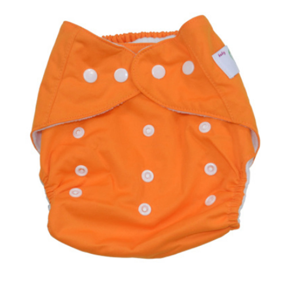 da2922220098 Summer Grid Baby Cloth Diaper Cover Adjustable Size Orange on OnBuy