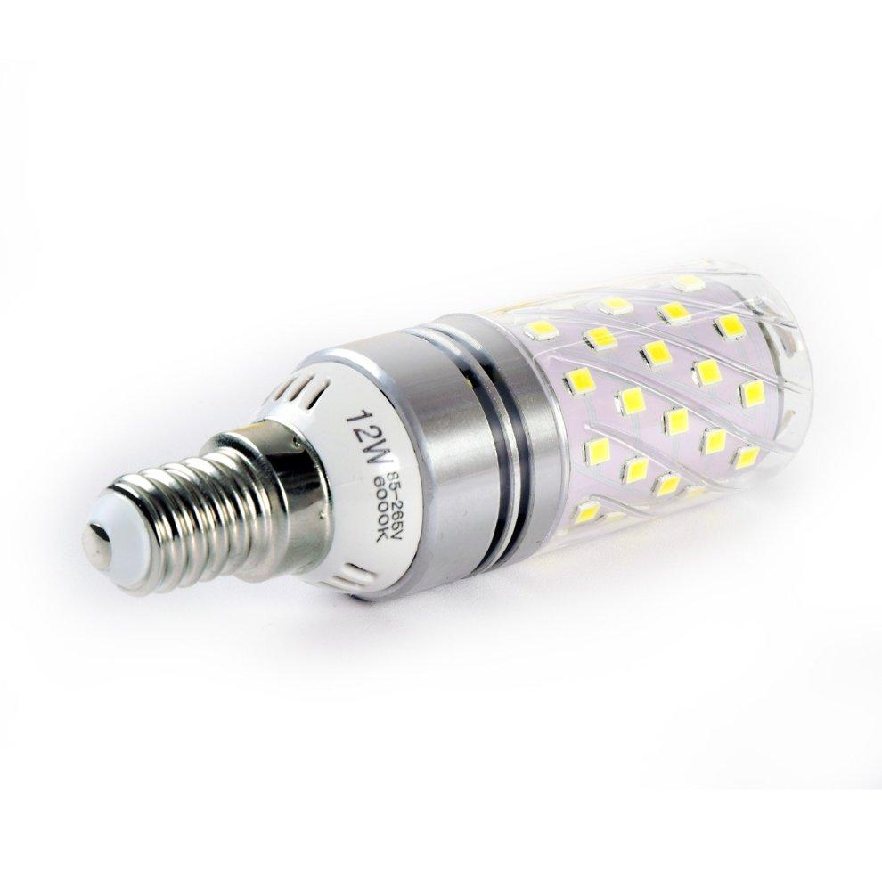6000K Daylight White Pack of 4 E27 Edison Screw 12W Hzsane LED Corn Bulbs 1200Lm