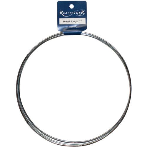 "Zinc Metal Rings-7"" 3/Pkg"