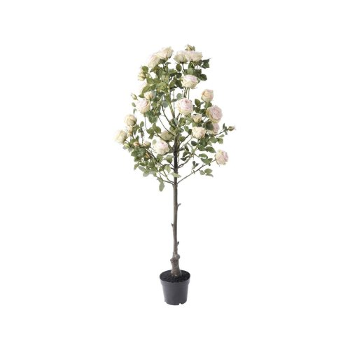 Libra Faux Decorative Pink Rose Tree Plant in Pot 160cm