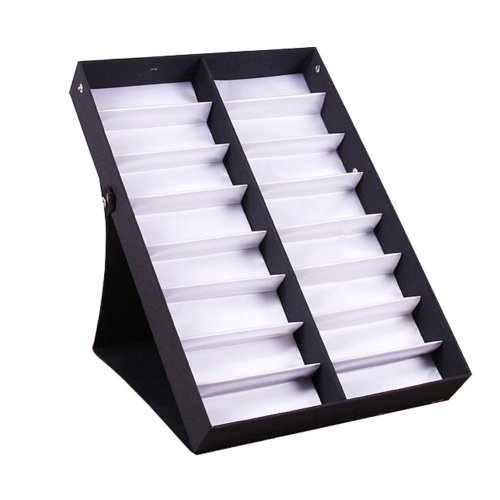 Eyeglasses Display Tray Sunglasses Holder Storage Case – 16 Compartments