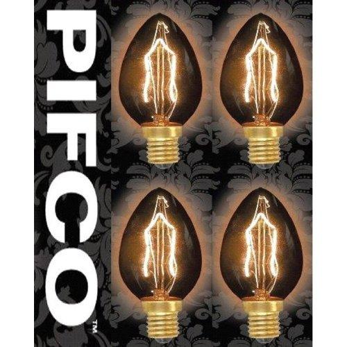 4 X PIFCO C35 40 Watt E14 SES Vintage Candle Retro Light Bulbs