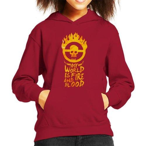 My World Is Fire Mad Max Fury Road Kid's Hooded Sweatshirt