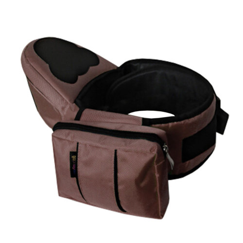 Multifunctional Baby Carrier Kid Hip Seat Carrier/Backpack With Waist Bag Brown