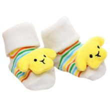 3 Pairs Non-slip Newborn Baby Toddler Socks Comfortable Warm Stockings Baby Birthday Gift For 6-12 month-A02