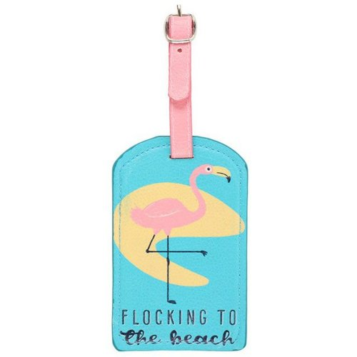 Something Different Flamingo Luggage Tag