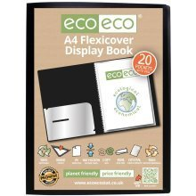 1 x A4 Flexicover 20pkt (40 Views) Presentation Display Book - Black