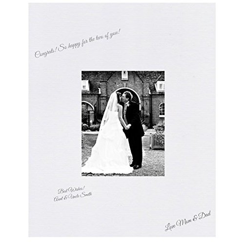 16x20 White Signature and Autograph Picture Mat for 8x10 picture Weddings Baby Showers Reunions