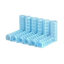 12 Pcs Girl Ladies Plastic Makeup DIY Hair Styling Roller Curlers Clips(Skyblue)