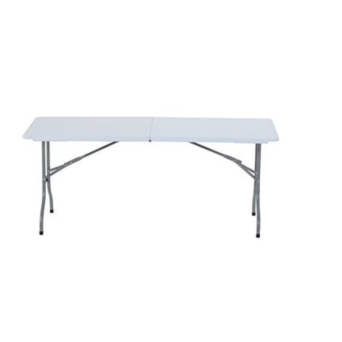 Outsunny Folding Table Picnic Dinning Garden in White