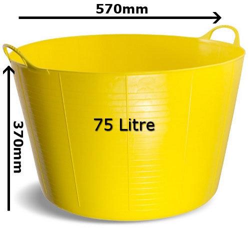 Gorilla Tub TC75Y Extra Large 75 Litre 570 x 370mm